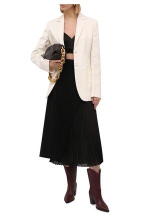 Женские кожаные ботильоны denver GIANVITO ROSSI бордового цвета, арт. G73546.70CU0.VGIMERL | Фото 2 (Материал внутренний: Натуральная кожа; Подошва: Плоская; Каблук тип: Устойчивый; Каблук высота: Высокий)