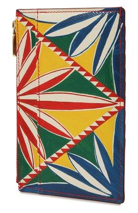 Женский кожаный футляр для кредитных карт DOLCE & GABBANA оранжевого цвета, арт. BI1390/AW425 | Фото 2