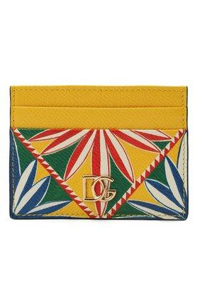 Женский кожаный футляр для кредитных карт DOLCE & GABBANA разноцветного цвета, арт. BI0330/AW425 | Фото 1