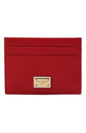 Женский кожаный футляр для кредитных карт DOLCE & GABBANA красного цвета, арт. BI0330/A1001 | Фото 1