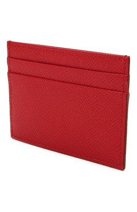 Женский кожаный футляр для кредитных карт DOLCE & GABBANA красного цвета, арт. BI0330/A1001 | Фото 2