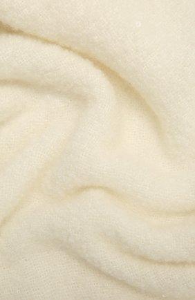 Женский кашемировый шарф BRUNELLO CUCINELLI молочного цвета, арт. MSCDVSW05 | Фото 2 (Материал: Кашемир, Шерсть)
