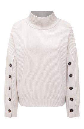 Женский кашемировый свитер BRUNELLO CUCINELLI кремвого цвета, арт. M12714704 | Фото 1 (Материал внешний: Шерсть, Кашемир; Длина (для топов): Стандартные; Стили: Кэжуэл; Рукава: Длинные; Женское Кросс-КТ: Свитер-одежда)