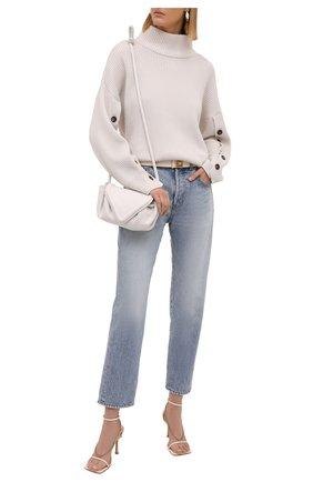 Женский кашемировый свитер BRUNELLO CUCINELLI кремвого цвета, арт. M12714704 | Фото 2 (Материал внешний: Шерсть, Кашемир; Длина (для топов): Стандартные; Стили: Кэжуэл; Рукава: Длинные; Женское Кросс-КТ: Свитер-одежда)