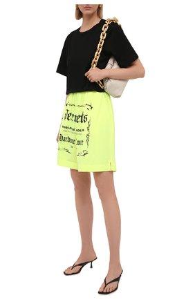 Женские хлопковые шорты VETEMENTS светло-зеленого цвета, арт. UA52TR400Y 1610/W | Фото 2