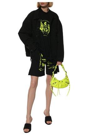 Женские хлопковые шорты VETEMENTS черного цвета, арт. UA52TR400X 1610/W | Фото 2