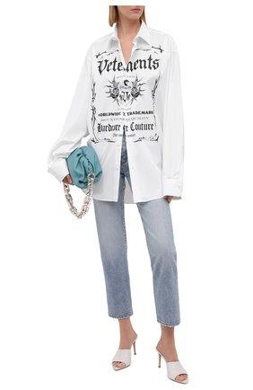 Женская хлопковая рубашка VETEMENTS белого цвета, арт. UA52SH500W 1005/W   Фото 2