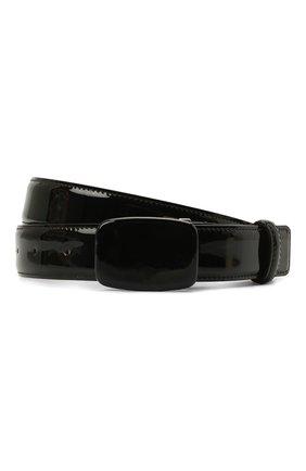 Женский кожаный ремень GIORGIO ARMANI черного цвета, арт. Y1I270/YQH2A | Фото 1