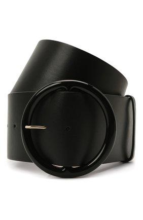 Женский кожаный ремень GIORGIO ARMANI черного цвета, арт. Y1I269/YSB3A | Фото 1 (Кросс-КТ: Широкие)