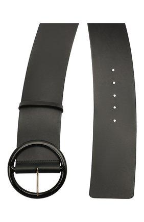 Женский кожаный ремень GIORGIO ARMANI черного цвета, арт. Y1I269/YSB3A | Фото 2 (Кросс-КТ: Широкие)