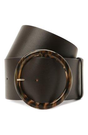 Женский кожаный ремень GIORGIO ARMANI темно-коричневого цвета, арт. Y1I269/YSB3A | Фото 1 (Кросс-КТ: Широкие)