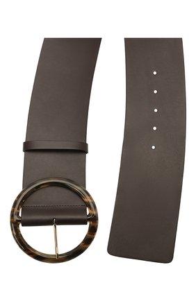 Женский кожаный ремень GIORGIO ARMANI темно-коричневого цвета, арт. Y1I269/YSB3A | Фото 2 (Кросс-КТ: Широкие)