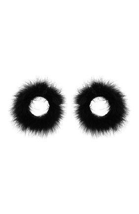 Женский комплект из двух браслетов с отделкой перьями SAINT LAURENT черного цвета, арт. 658622/3YH02 | Фото 1