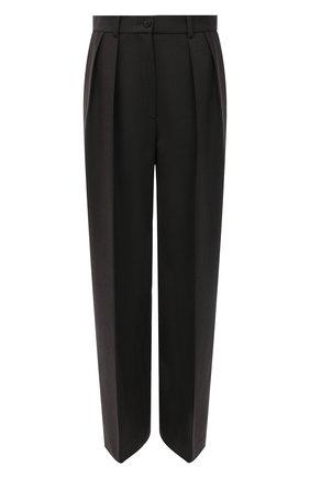 Женские шерстяные брюки THE ROW темно-зеленого цвета, арт. 5629W1904 | Фото 1