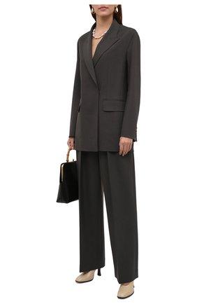Женские шерстяные брюки THE ROW темно-зеленого цвета, арт. 5629W1904 | Фото 2