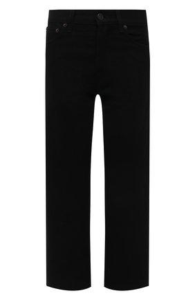 Женские джинсы THE ROW черного цвета, арт. 5660W1954 | Фото 1 (Материал внешний: Хлопок; Стили: Минимализм; Силуэт Ж (брюки и джинсы): Прямые; Кросс-КТ: Деним; Длина (брюки, джинсы): Укороченные)