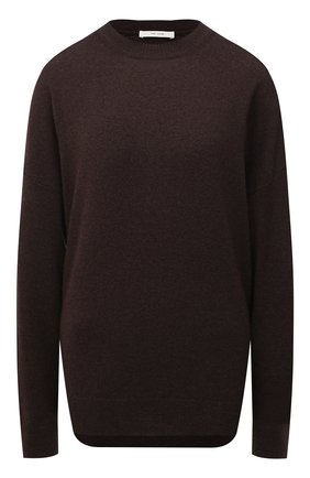 Женский кашемировый пуловер THE ROW темно-коричневого цвета, арт. 5681F377 | Фото 1