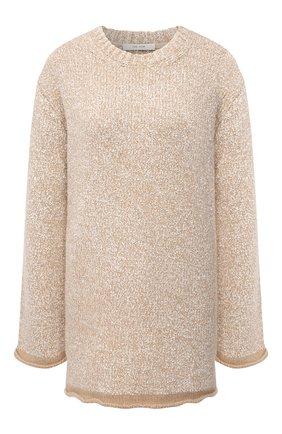 Женский свитер из смеси кашемира и шелка THE ROW бежевого цвета, арт. 5710Y502 | Фото 1
