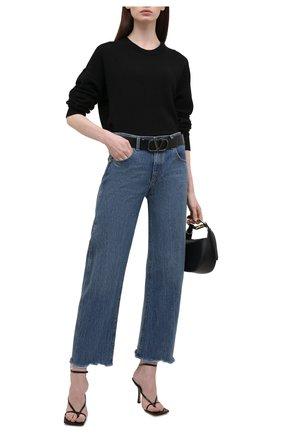 Женский пуловер из шерсти и кашемира THE ROW черного цвета, арт. 5716Y9 | Фото 2