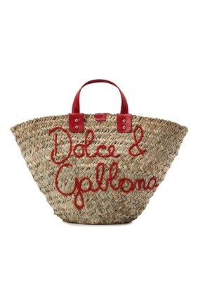 Женский сумка-шопер kendra DOLCE & GABBANA красного цвета, арт. BB5888/AJ965 | Фото 1