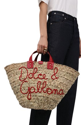 Женский сумка-шопер kendra DOLCE & GABBANA красного цвета, арт. BB5888/AJ965 | Фото 2