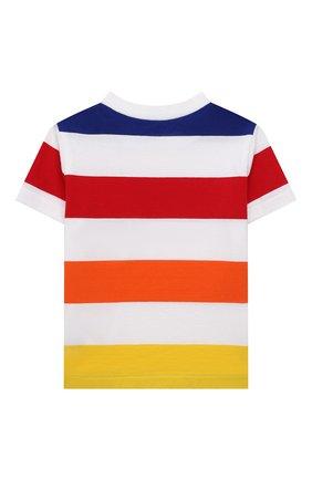 Детский хлопковая футболка POLO RALPH LAUREN разноцветного цвета, арт. 320844644 | Фото 2 (Рукава: Короткие; Материал внешний: Хлопок; Ростовка одежда: 9 мес | 74 см, 12 мес | 80 см, 18 мес | 86 см)