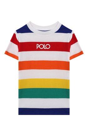 Детская хлопковая футболка POLO RALPH LAUREN разноцветного цвета, арт. 321844644 | Фото 1