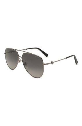 Женские солнцезащитные очки MONCLER черного цвета, арт. ML 0196-D 08D 62 с/з очки   Фото 1