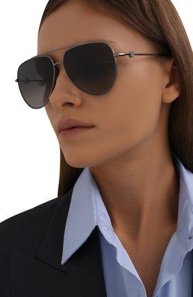 Женские солнцезащитные очки MONCLER черного цвета, арт. ML 0196-D 08D 62 с/з очки   Фото 2