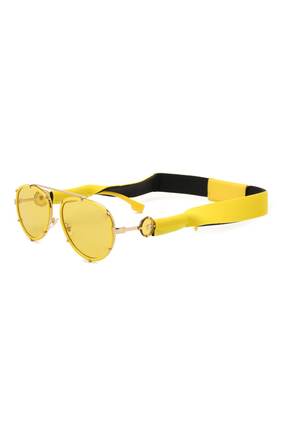 Женские солнцезащитные очки VERSACE желтого цвета, арт. 2232-14736D | Фото 1