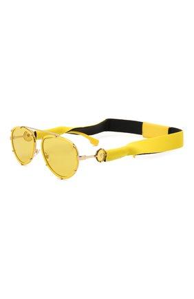 Женские солнцезащитные очки VERSACE желтого цвета, арт. 2232-14736D | Фото 1 (Тип очков: С/з; Оптика Гендер: оптика-унисекс; Очки форма: Авиаторы)