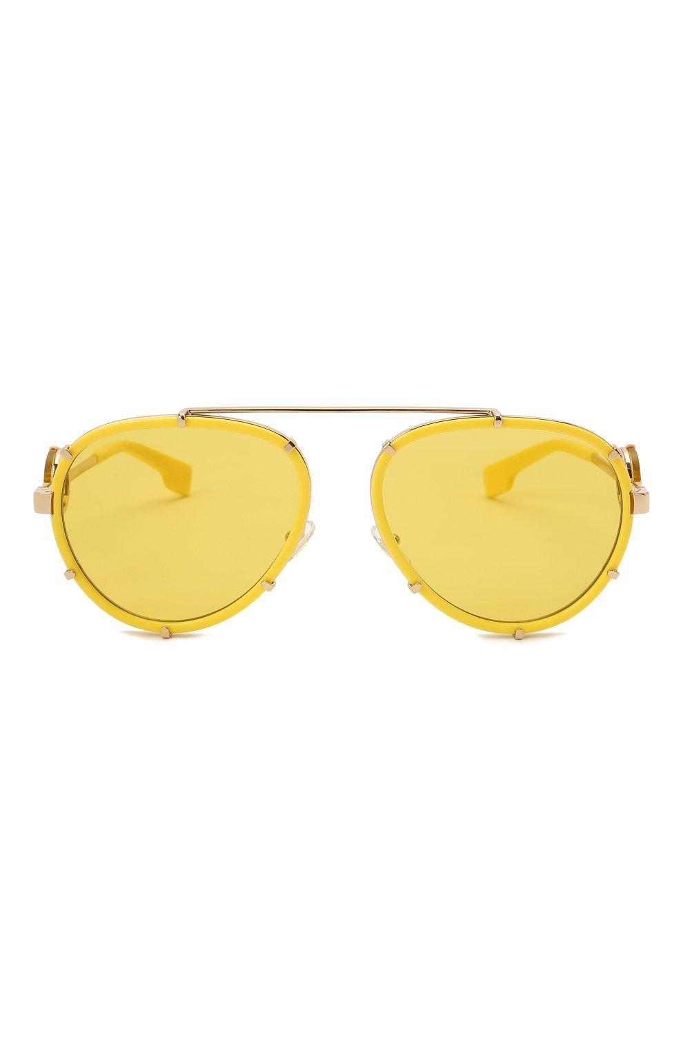 Женские солнцезащитные очки VERSACE желтого цвета, арт. 2232-14736D | Фото 4