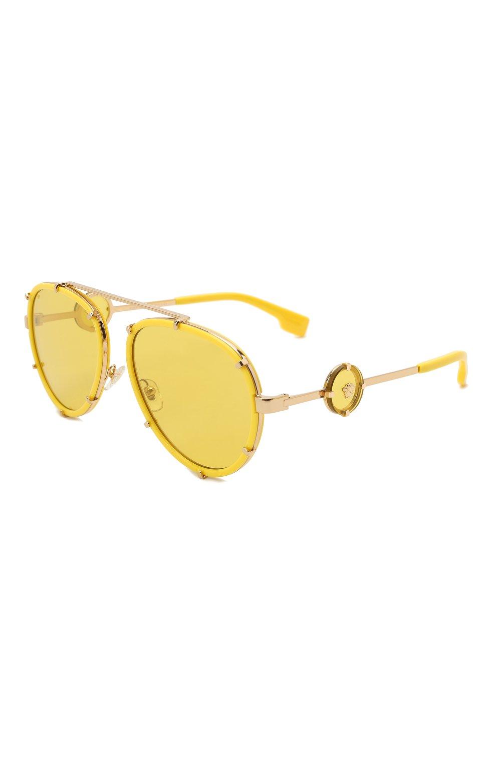 Женские солнцезащитные очки VERSACE желтого цвета, арт. 2232-14736D | Фото 6