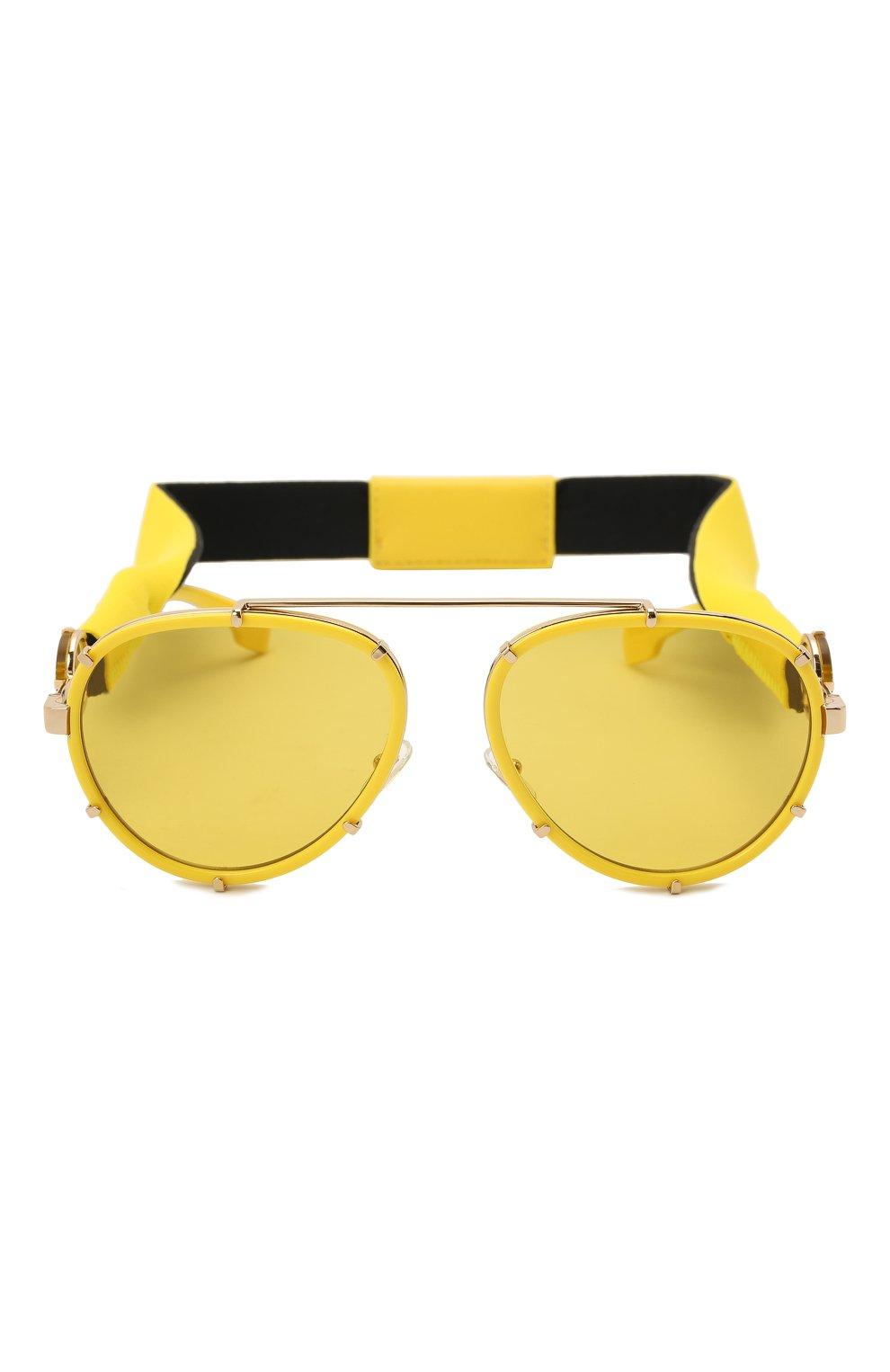 Женские солнцезащитные очки VERSACE желтого цвета, арт. 2232-14736D | Фото 7