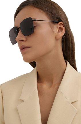 Женские солнцезащитные очки SAINT LAURENT черного цвета, арт. SL 312 M 001 | Фото 2