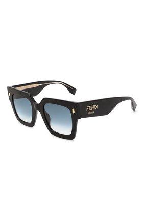 Женские солнцезащитные очки FENDI черного цвета, арт. 0457/G 807 | Фото 1