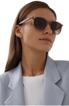 Женские солнцезащитные очки RAY-BAN коричневого цвета, арт. 4306-616613 | Фото 2