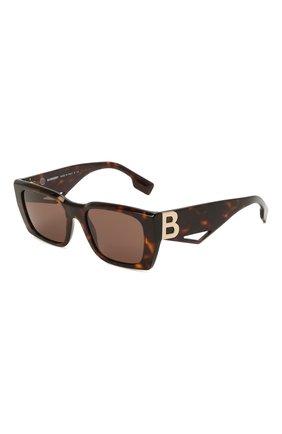 Женские солнцезащитные очки BURBERRY коричневого цвета, арт. 4336-392073 | Фото 1