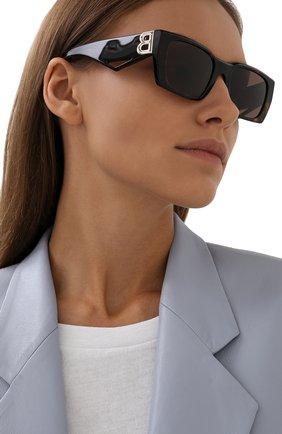 Женские солнцезащитные очки BURBERRY коричневого цвета, арт. 4336-392073 | Фото 2