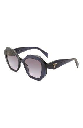 Женские солнцезащитные очки PRADA темно-сиреневого цвета, арт. 16WS-08Q08I | Фото 1 (Тип очков: С/з; Очки форма: Бабочка; Оптика Гендер: оптика-женское)