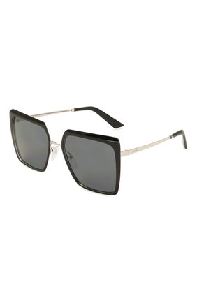 Женские солнцезащитные очки PRADA черного цвета, арт. 58WS-1AB5Z1   Фото 1