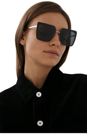 Женские солнцезащитные очки PRADA черного цвета, арт. 58WS-1AB5Z1   Фото 2