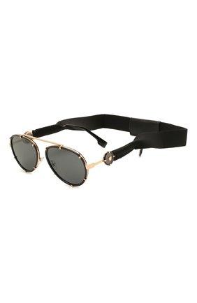 Женские солнцезащитные очки VERSACE черного цвета, арт. 2232-143887 | Фото 1