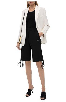 Женские шорты-бермуды OFF-WHITE черного цвета, арт. 0WCA133S21FAB002 | Фото 2