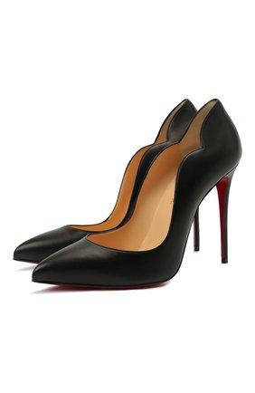 Женские кожаные туфли hot chick 100 CHRISTIAN LOUBOUTIN черного цвета, арт. 3200380/H0T CHICK 100   Фото 1