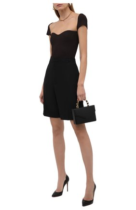Женские кожаные туфли hot chick 100 CHRISTIAN LOUBOUTIN черного цвета, арт. 3200380/H0T CHICK 100   Фото 2