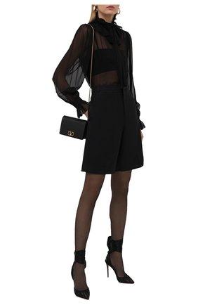 Женские текстильные туфли noor 100 CHRISTIAN LOUBOUTIN черного цвета, арт. 3210264/N00R 100 | Фото 2