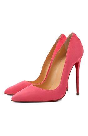 Женские замшевые туфли so kate 120 CHRISTIAN LOUBOUTIN розового цвета, арт. 3131128/S0 KATE 120   Фото 1
