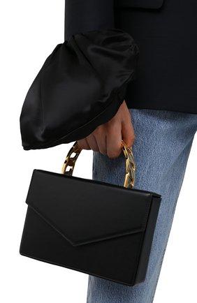 Женская сумка AMINA MUADDI черного цвета, арт. AMINI PERNILLE/CALF   Фото 2