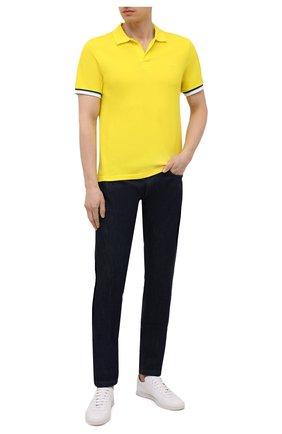 Мужское хлопковое поло VILEBREQUIN желтого цвета, арт. PLTU1N00/105 | Фото 2
